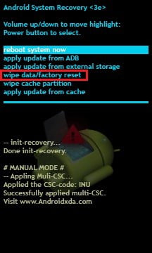 fix huawei phone wont turn on with Wipe data/factory reset