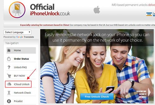 Remove iCloud Account with OfficialiPhoneUnlock