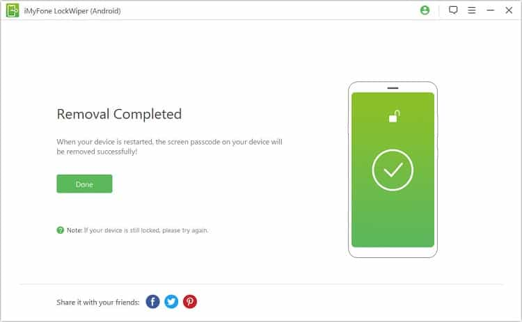 Unlock Motorola with iMyFone LockWiper for Android