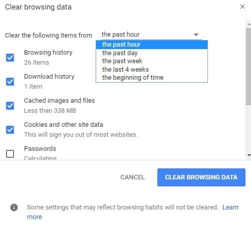 How to Delete Temporary Internet Files in Google Chrome