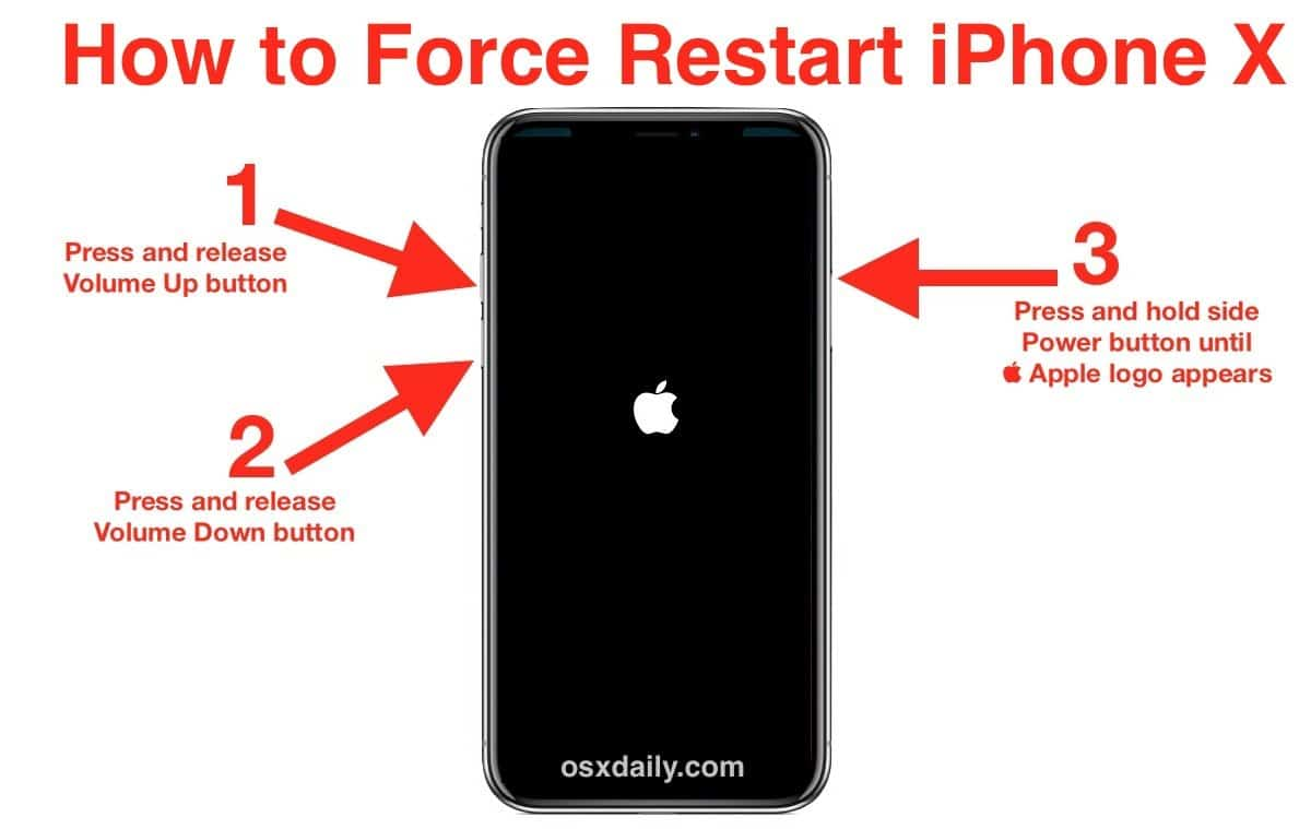 Restar iPhone to Fix iPhone Keeps Restarting