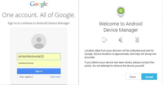 how to unlock android phone with Android Device Manager
