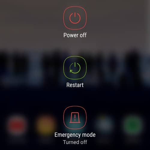 Restart Samsung Phone to Fix Samsung Keyboard Has Stopped Issue
