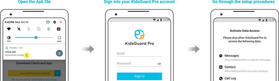 gmail password hack with KidsGuard Pro