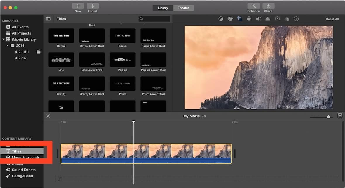 How to Add Subtitles in iMovie 10