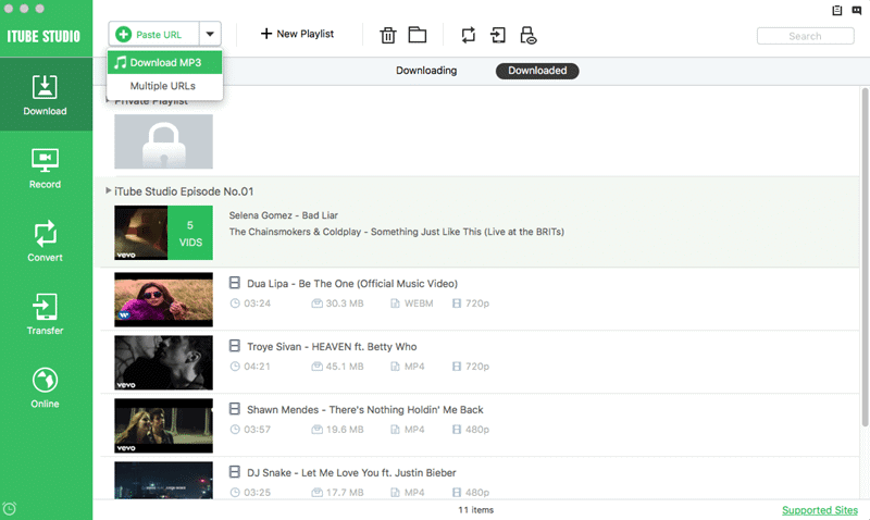 Url to MP3 with iTube