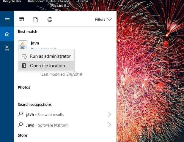 Run Java with administrator to Fix Could Not Create The Java Virtual Machine