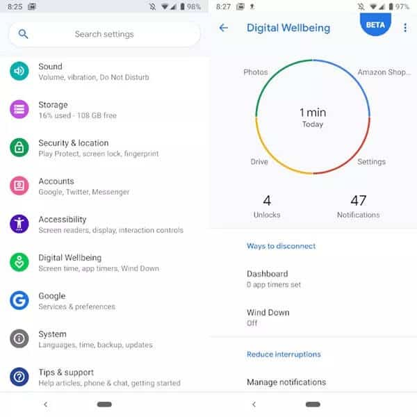 Digital Wellbeing Android Screen Time