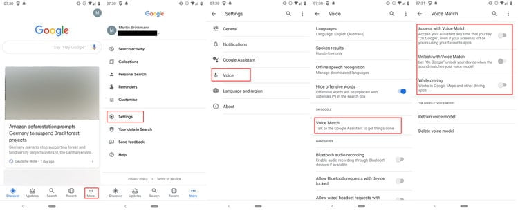 Enable or Disable Google Assistant Lock Screen