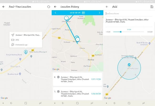 FamiSafe Review - Location Tracking
