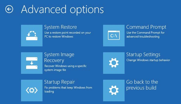 To access advanced options of Windows 10