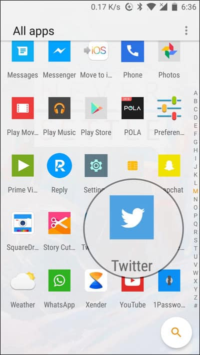 save a GIF from Twitter on an Android device