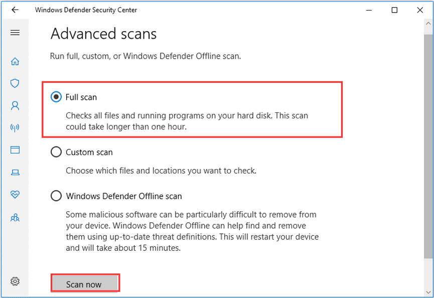 Perform a malware and virus scan