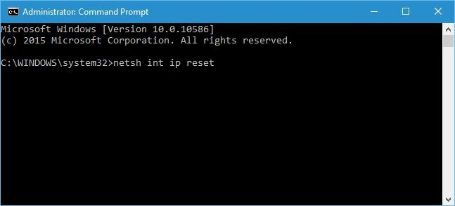 Try the netshell resetting command