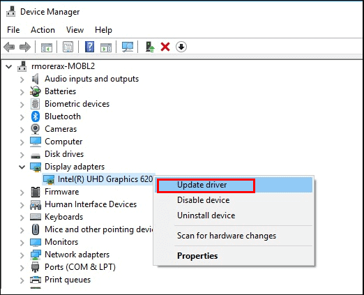 Update your graphics card driver to fix Igfxem Module High CPU
