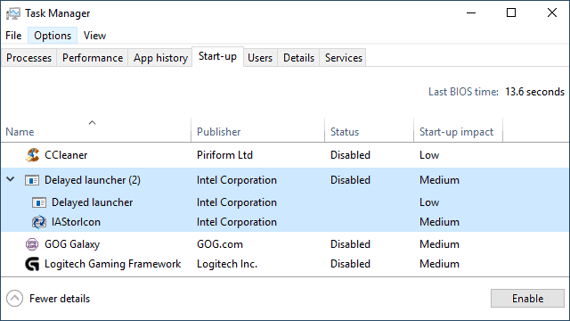 Disabling the launcher in Windows 8 and 10