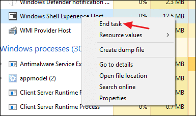 Is it possible to disable Shell Infrastructure Host?