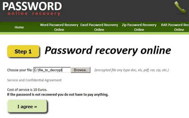 Use an online tool when you forgot Excel password