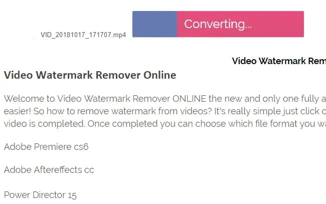 Via Video Watermark Remover Online