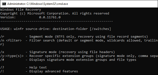 How to use Windows File Recovery and recover deleted files