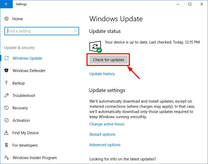 Install the updates properly