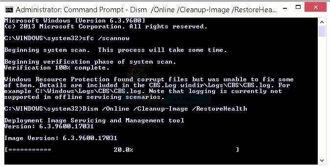 Scan with the System File Checker