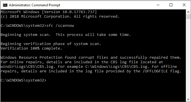 Launch SFC for Eliminating the Netwtw06.sys Error