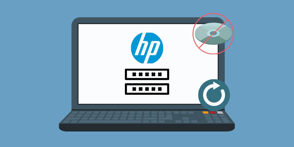 how to reset the password on HP laptop without disk