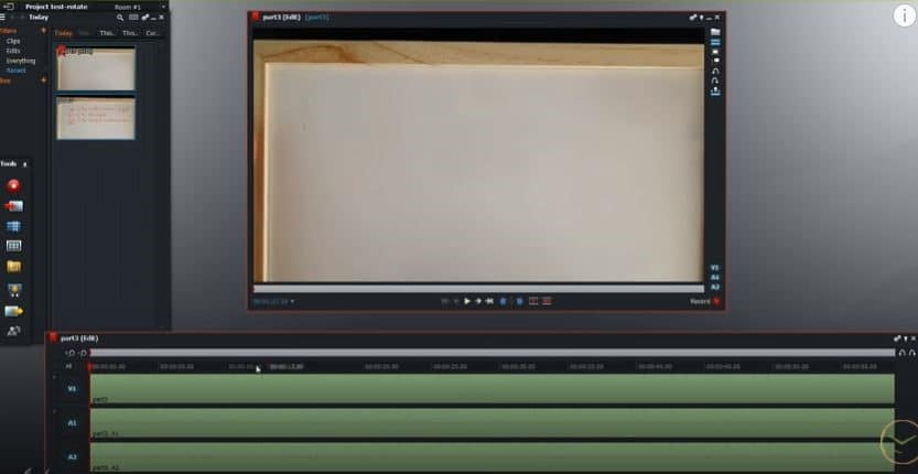 Methods of using the Lightworks tool for rotating videos