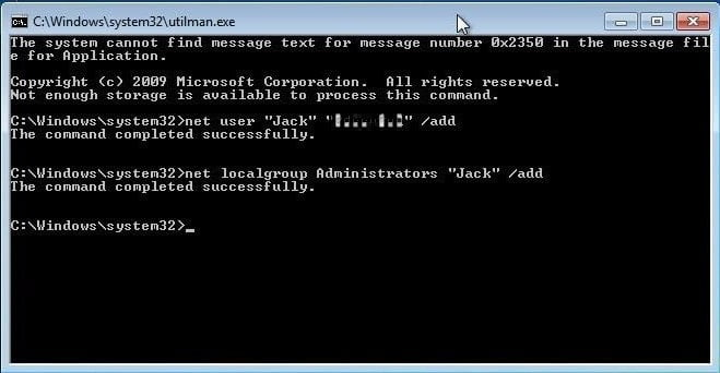 Use CMD and create a new administrator account