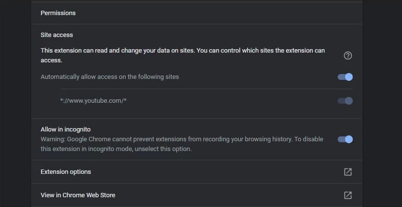 Disable the third-party addons you have installed on the browser