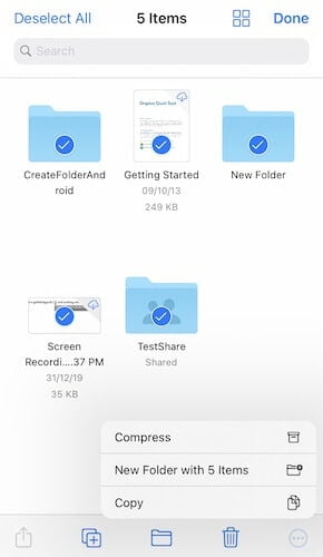How to transfer Dropbox to iCloud using your iOS device