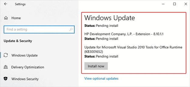 Update your Windows system