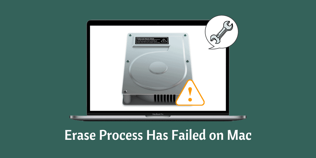 Erase Process Has Failed on Mac